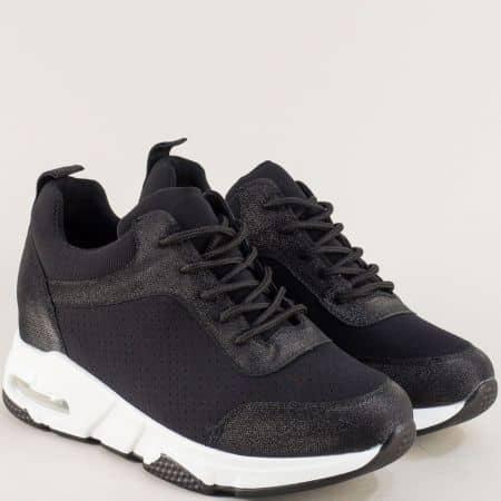 Спортни дамски обувки в черен цвят sz196ch