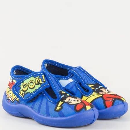 Сини детски обувки с пъстър принт tiger7