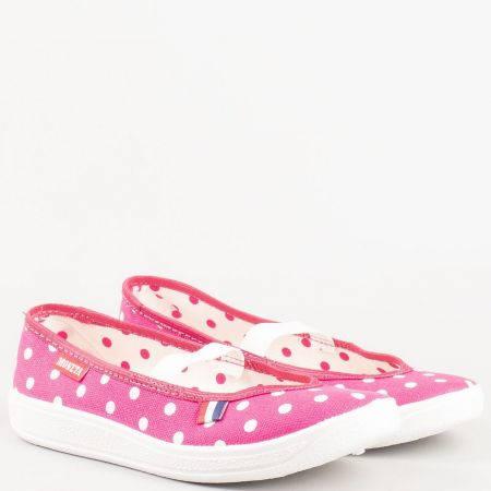 Розови детски спортни обувки тип гуменки на точки u114rzt