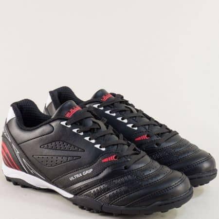 Дамски маратонки в черно, червено и бяло- BULLDOZER v18-40ch