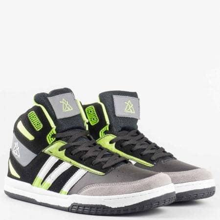 Мъжки спортни обувки на комфортно ходило с връзки   с марка  Bulldozer    v52098-45chz