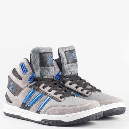 Мъжки спортни обувки на комфортно ходило с връзки   с марка  Bulldozer    v52098-45sv