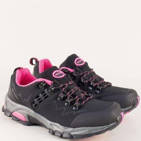 Черни дамски маратонки с връзки на стабилно ходило v622430-40ch