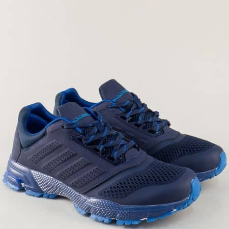 Сини мъжки маратонки Bulldozer на комфортно ходило  v71270-45s