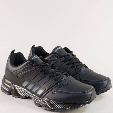 Черни мъжки маратонки- BULLDOZER на стабилно ходило v72185-49ch