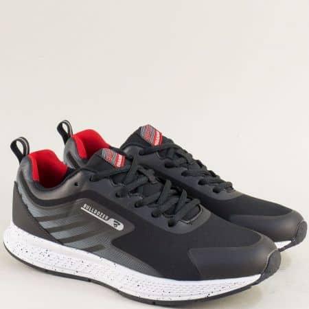 Спортни мъжки обувки в черен цвят- Bulldozer v82007-45chchv