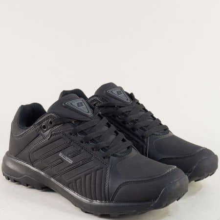 Мъжки маратонкис връзки- BULLDOZER в черен цвят v82035-45ch