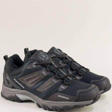 Мъжки маратонки с връзки- BULLDOZER в черен цвят v820599-45chsv