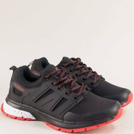 Дамски маратонки в черен цвят на удобно ходило v92001-40chchv