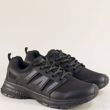 Мъжки маратонки- BULLDOZER в черно и сиво v92001-45chsv