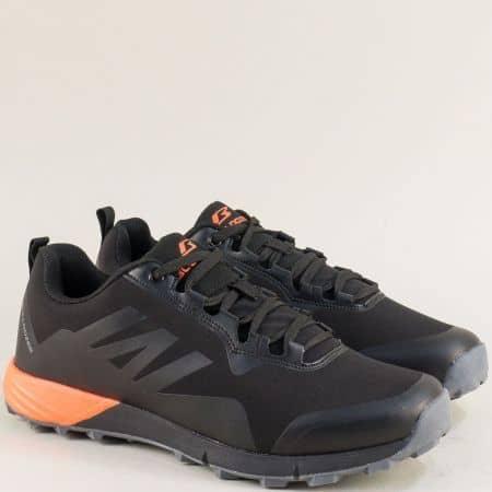 Спортни мъжки обувки в черно и оранж- Bulldozer v92017-45cho