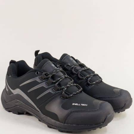 Спортни мъжки обувки в сиво и черно- BULLDOZER v92051-45ch