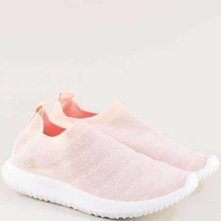 Спортни дамски обувки в розов цвят на удобно ходило yj237rz