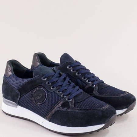 Тъмно сини мъжки маратонки- NATURELLE z103s