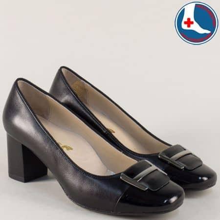 Дамски обувки в черен цвят на среден ток- Naturelle  z1502tch