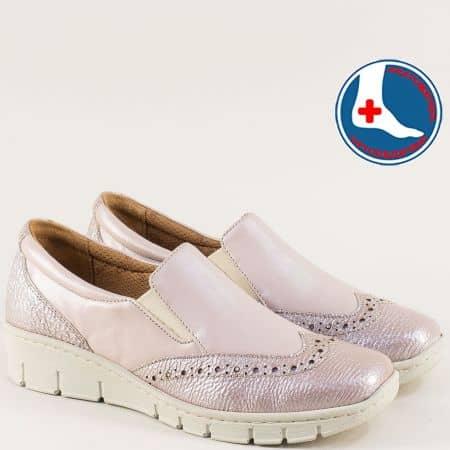 Розови дамски обувки с ортопедична извивка и ластик z242rz