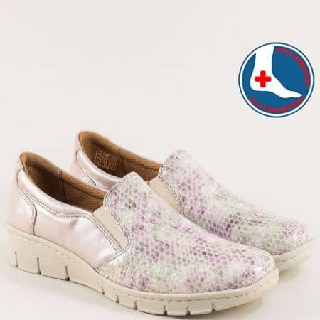 Ортопедични дамски обувки на платформа в бежов цвят z314bjps