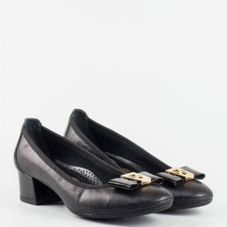 Черни  ортопедични дамски  обувки  от 100 %  естествена кожа z695701ach