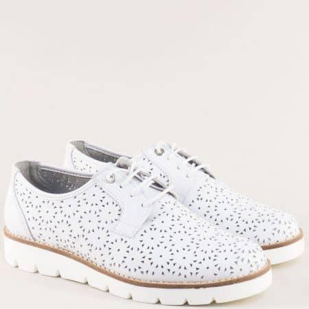 Дамски летни обувки в бяло на марка Portania zoe39b