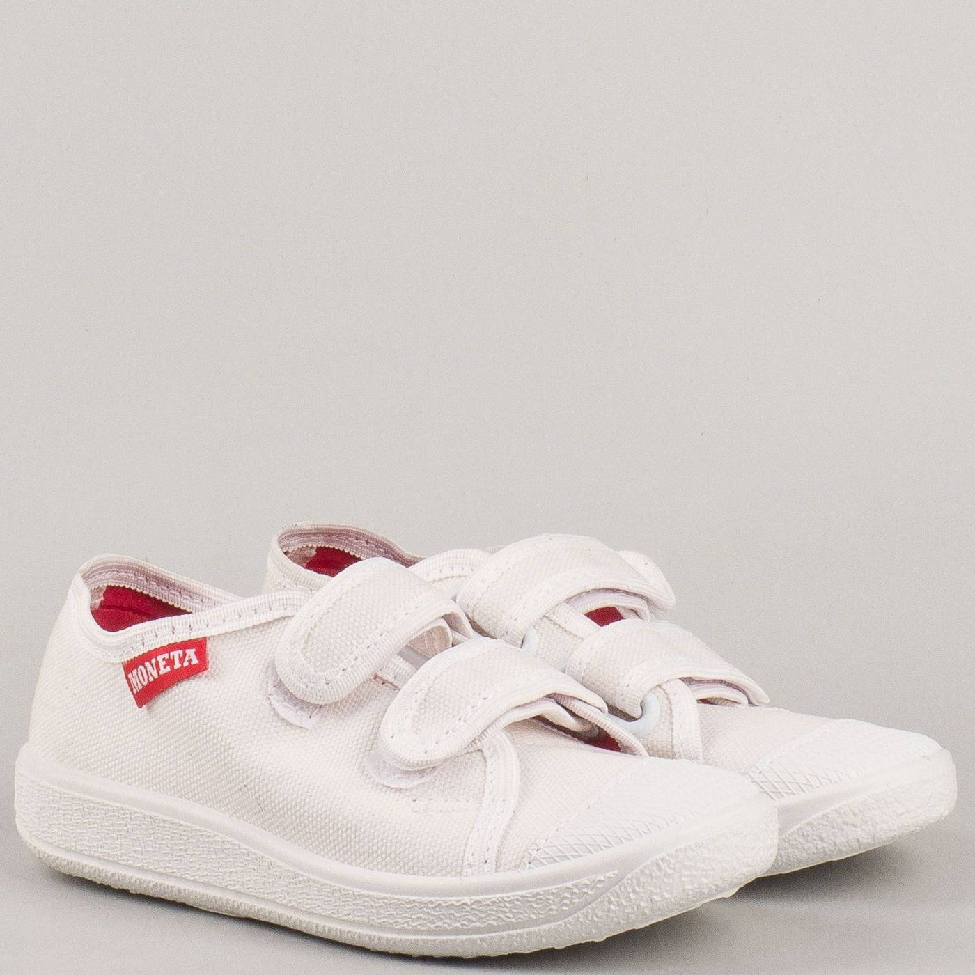 d599e0ecac0 Пролетно летни детски обувки с две велкро лепенки на водещ български  производител в бяло u062b - Sisi-bg.com