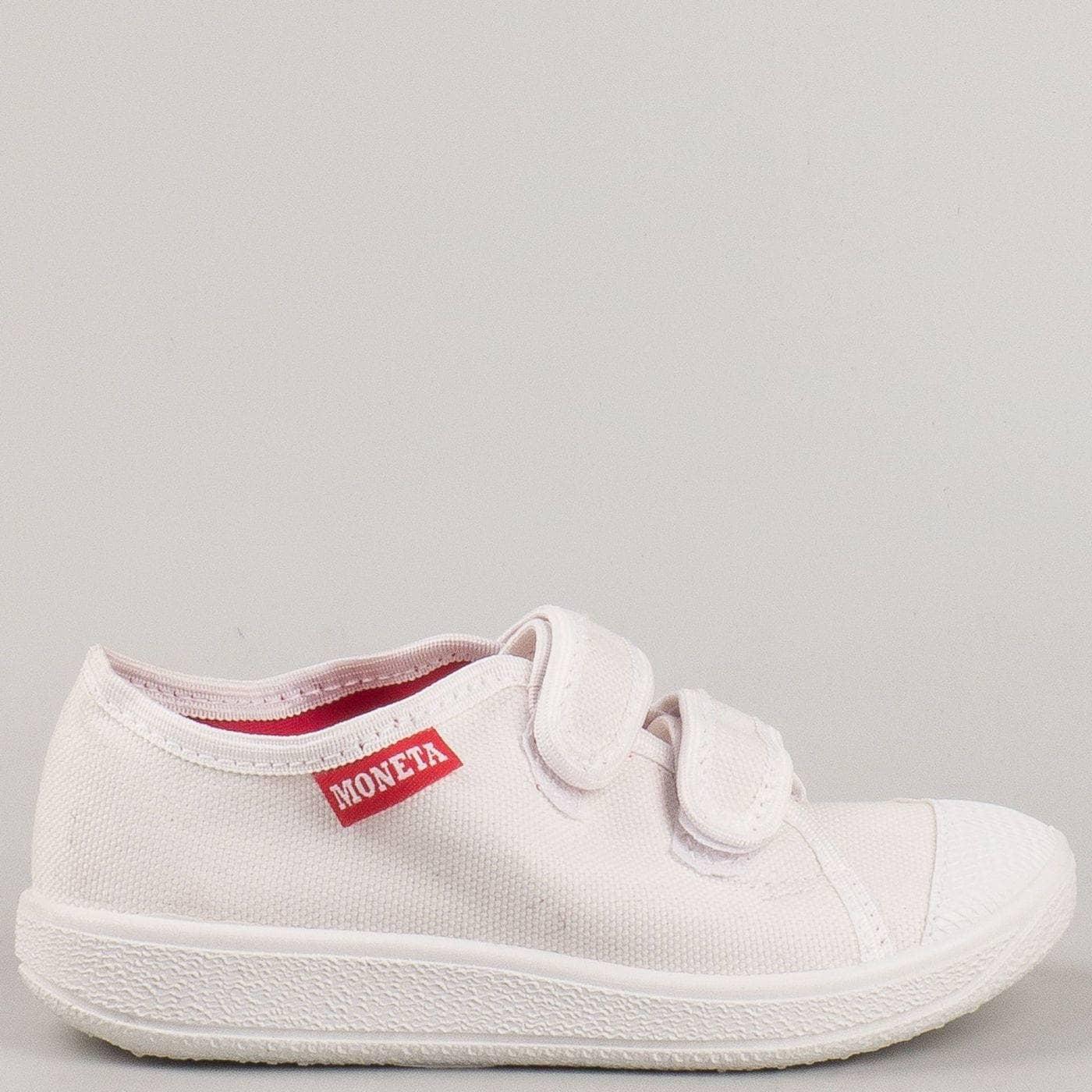8b361af86a3 Пролетно летни детски обувки с две велкро лепенки на водещ български  производител в бяло u062b